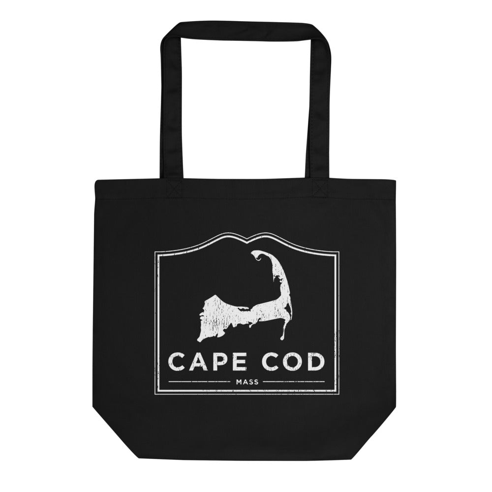 Cape Cod Mass Black Tote Bag Vintage Look