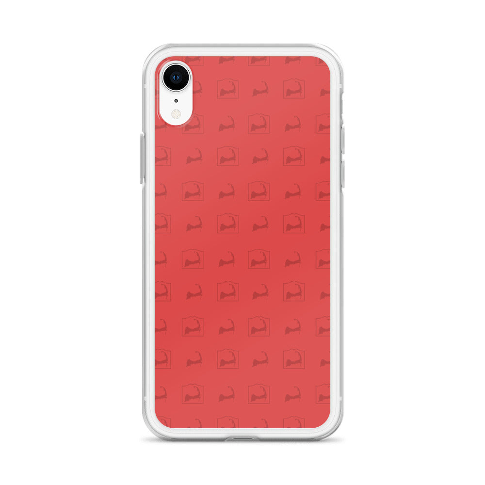 Cape Cod Pattern Red iPhone Case