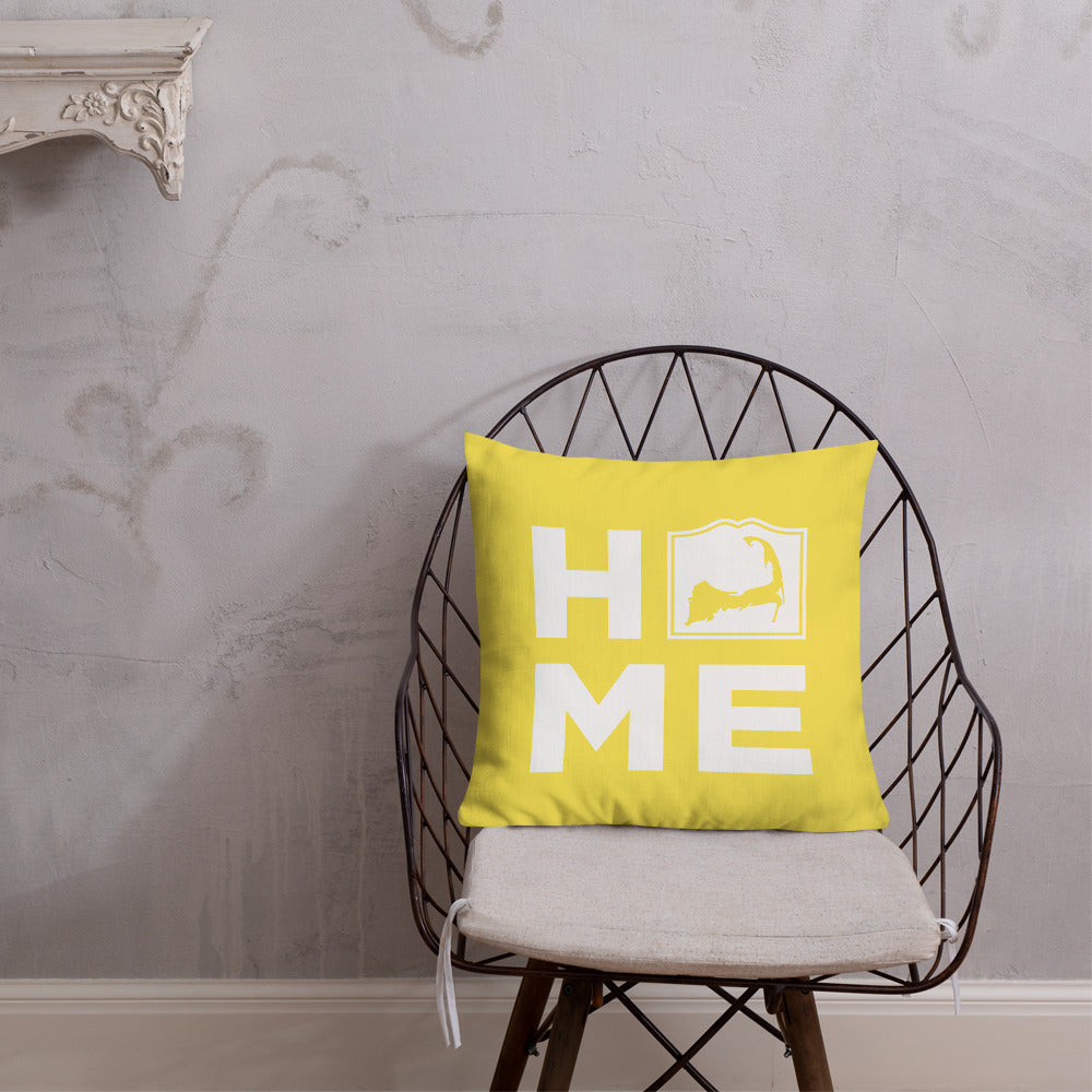 Cape Cod HOME Pillow - Yellow