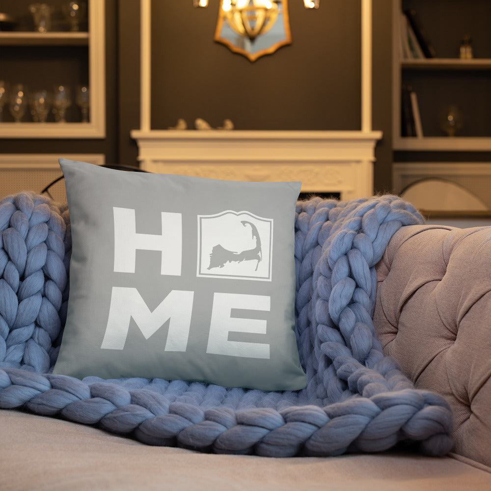 Cape Cod HOME Pillow - Light Gray