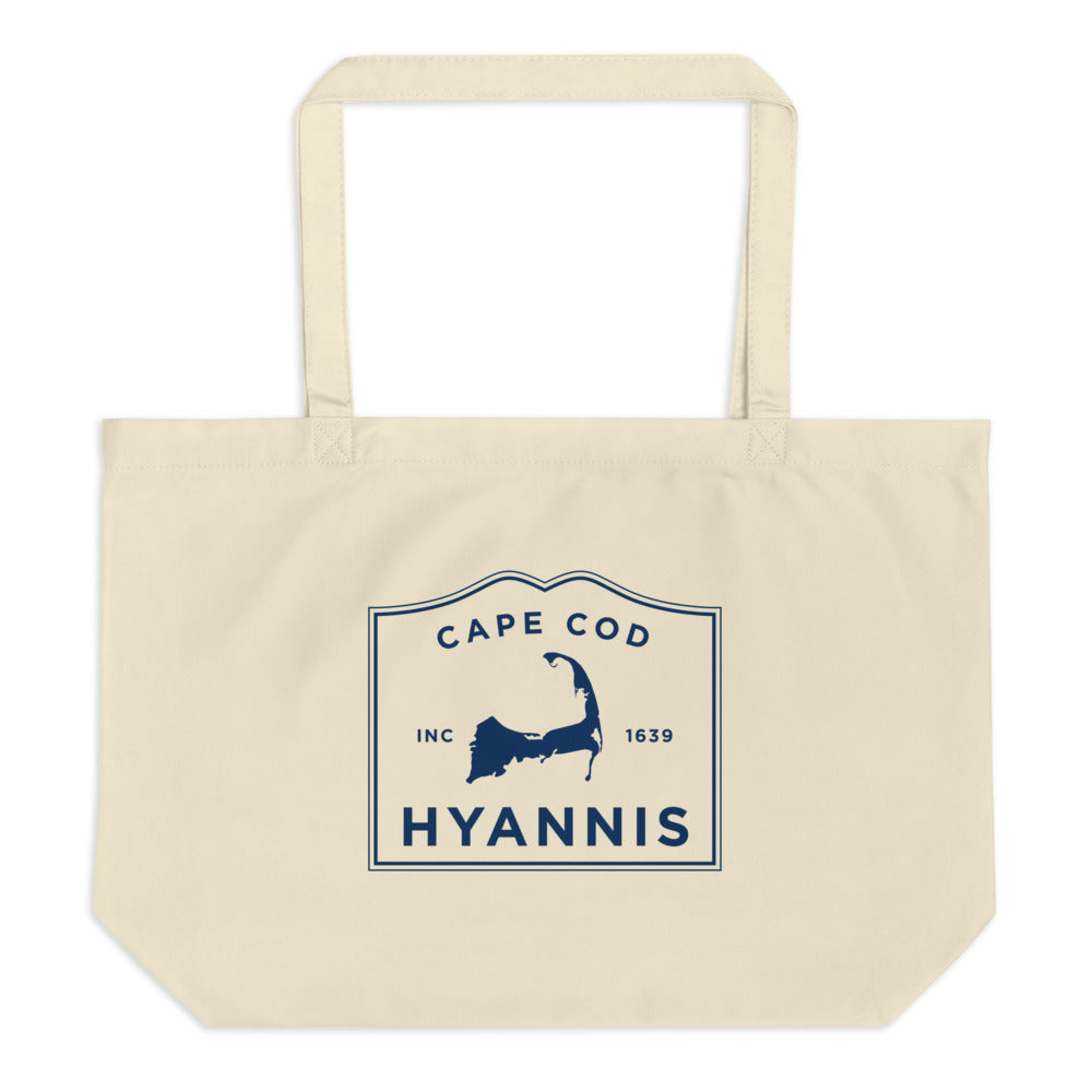 Hyannis Cape Cod Large Tote Bag