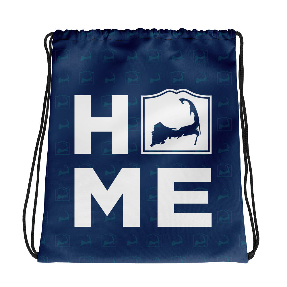 Cape Cod HOME Blue Drawstring Backpack