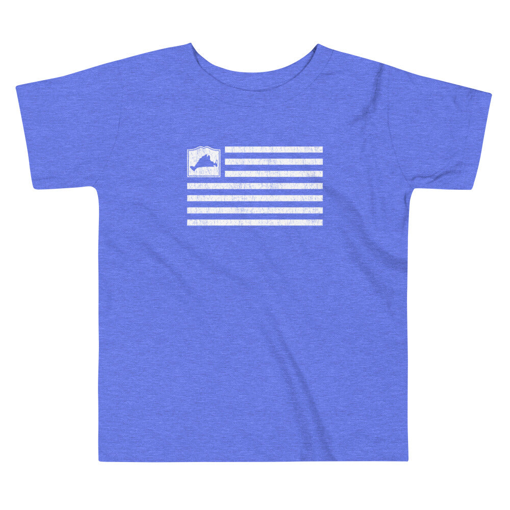 Martha's Vineyard Flag Toddler Short Sleeve T Shirt
