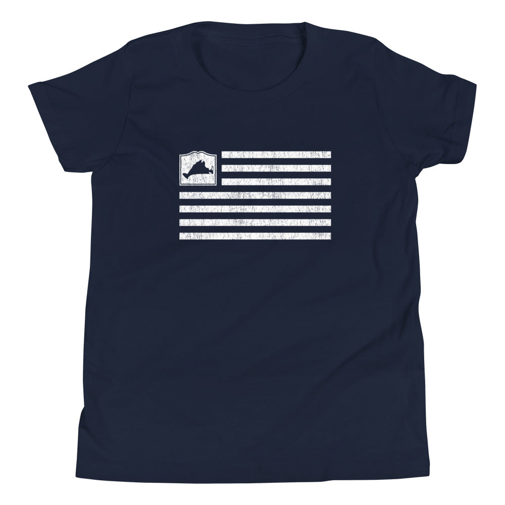 Martha's Vineyard Flag Youth Short Sleeve T-Shirt