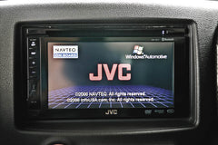auto tech interior center console jvc screen