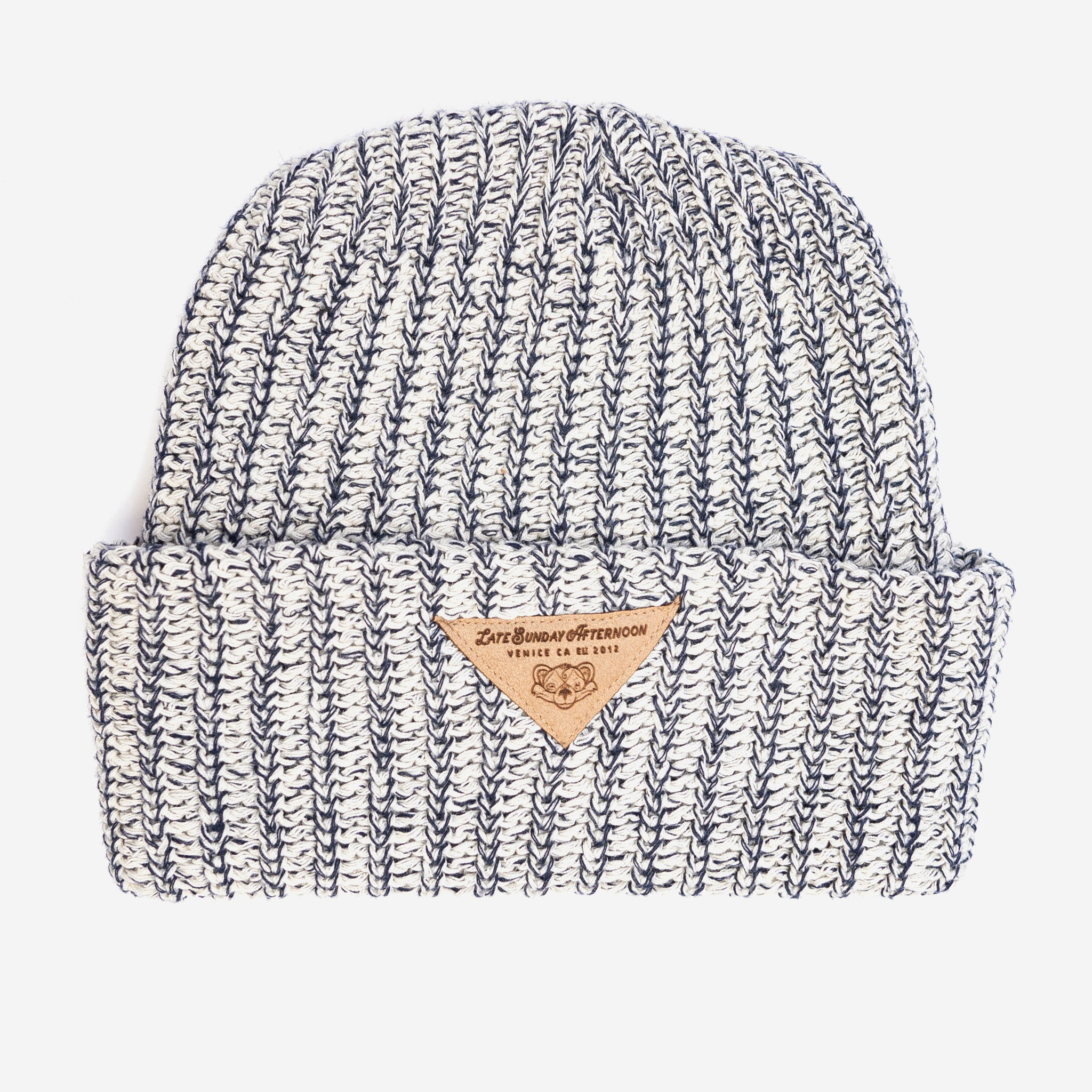 Navy Heather LSA High Top Beanie