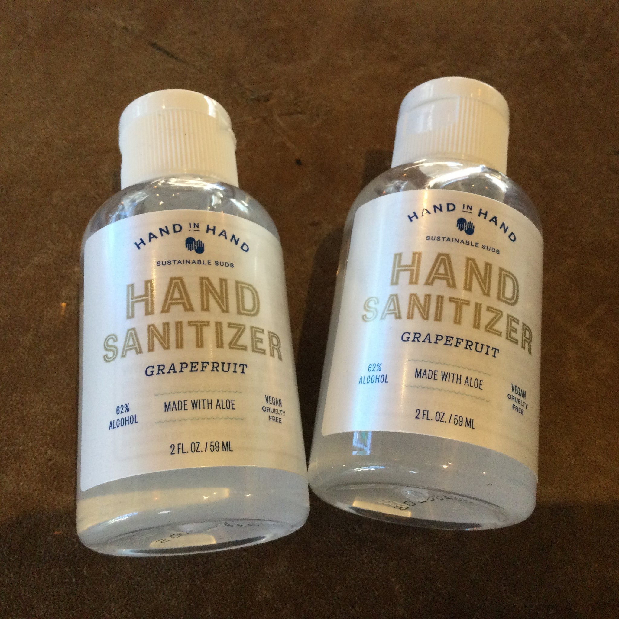 Travel sized Hand In Hand Sanitizer