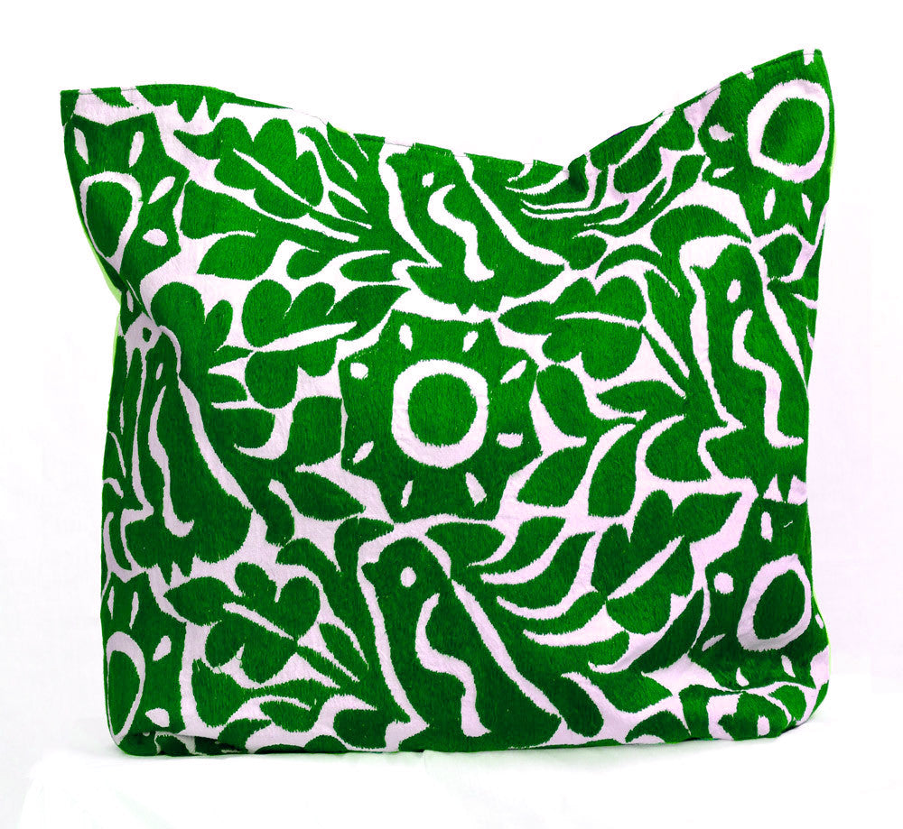 Shop Taller Folk Hand Embroidered Pillow Cover in green