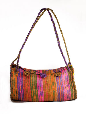 Folk Kika Henequen Woven Bag in Colors