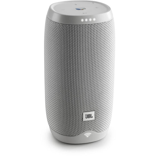 Link 10 Google-Enabled Voice-Activated Waterproof Wireless Speaker - White