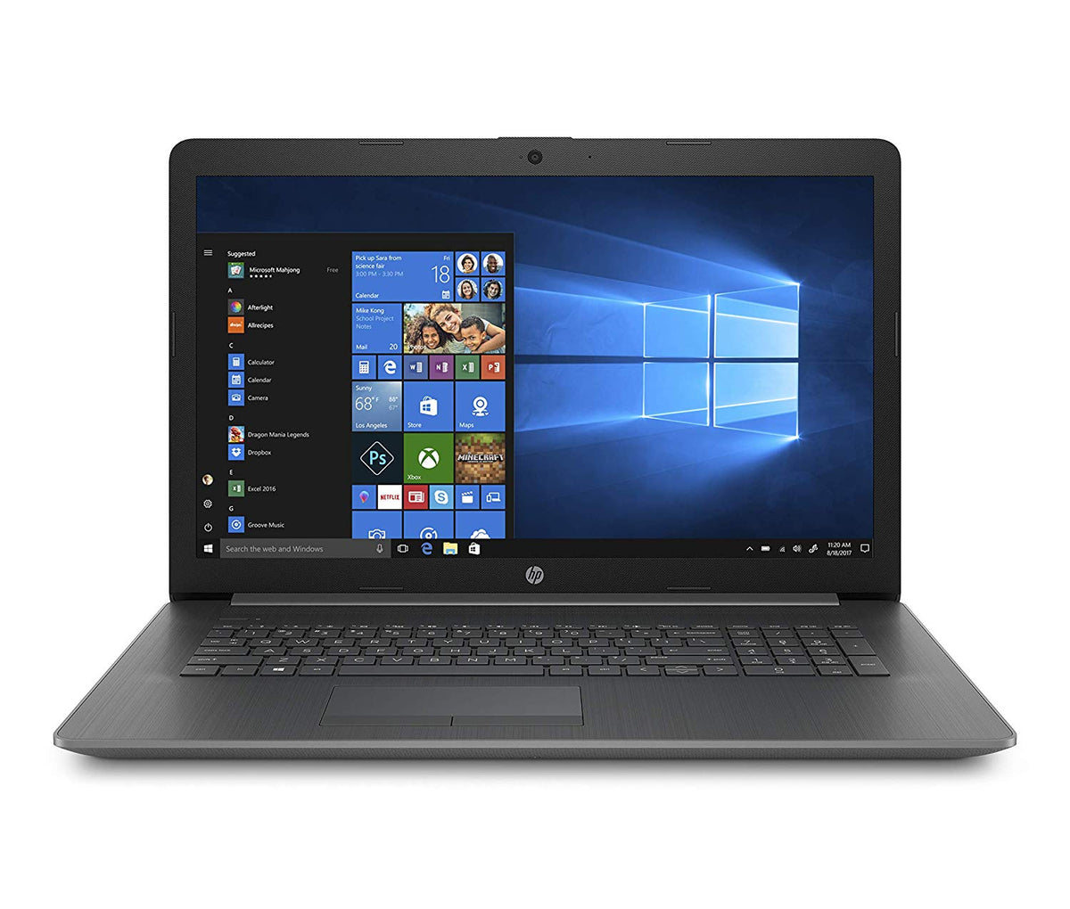 HP 17-inch Laptop, AMD A9-9425, 4GB RAM, 1TB Hard Drive, 17-ca0020nr - Gray