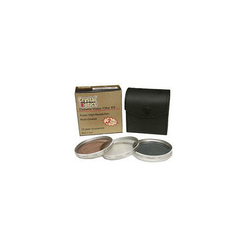 Sakar 43mm 3-Piece Polarizer/UV/F-DL Filter Kit,Metal Rim with Leather Case,15 Year Warranty