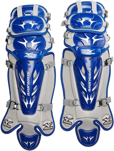 Mizuno Youth G3 Samurai Shin Guards (14.5-Inch) - Royal Blue / Gray