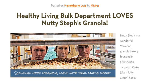 Healthy living loves nutty stephs