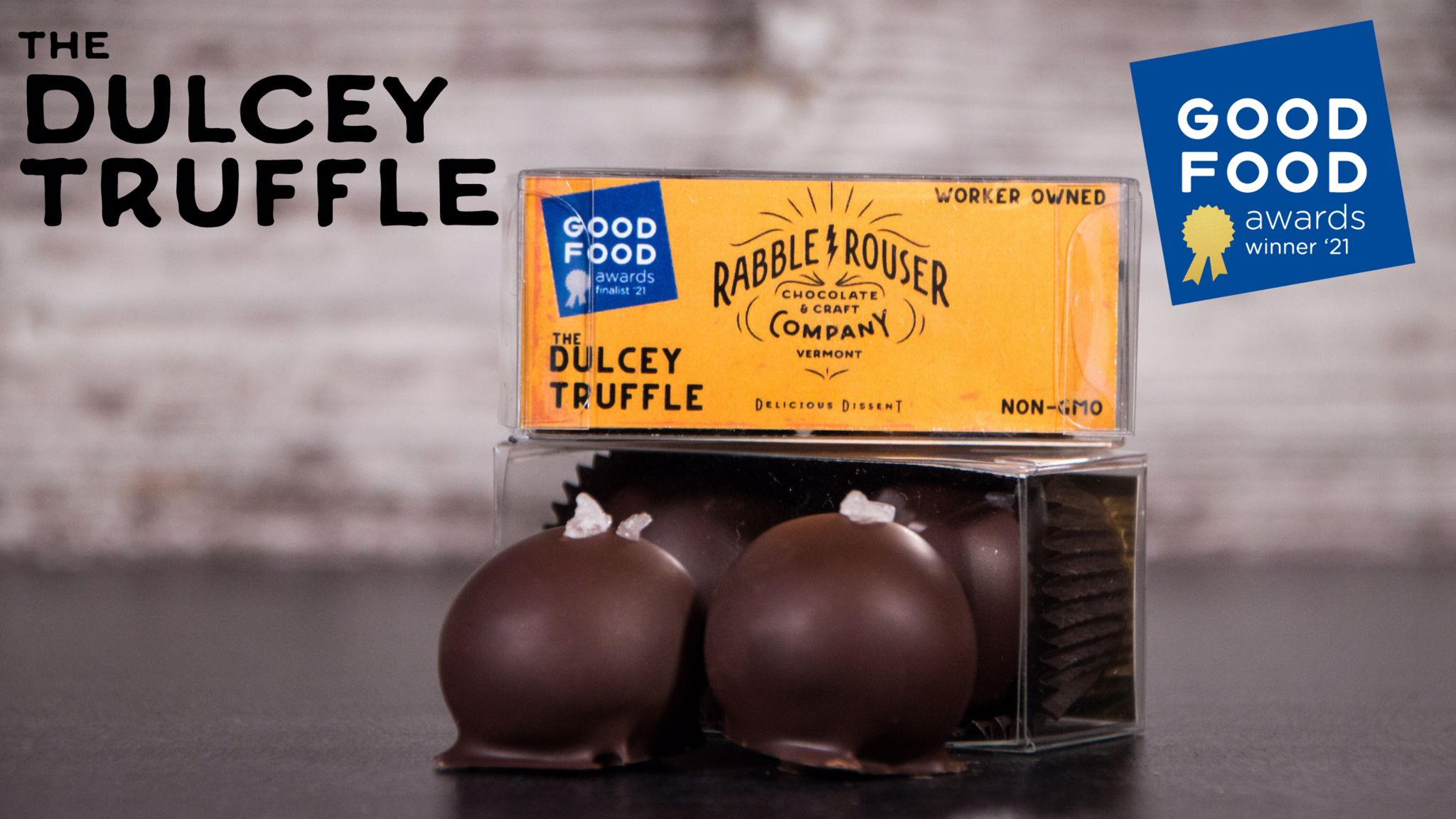 Rabble-Rouser's Award-Winning Dulcey Truffle from the 2021 Good Food Awards