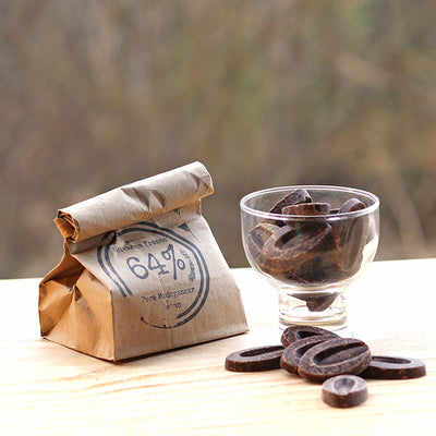 Vermont's Best 64% dark chocolate buttons by Rabble-Rouser. Available at rabblerouser.net