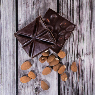 Dark-Chocolate-With-Almonds Square - Rabble-Rouser Chocolate & Craft