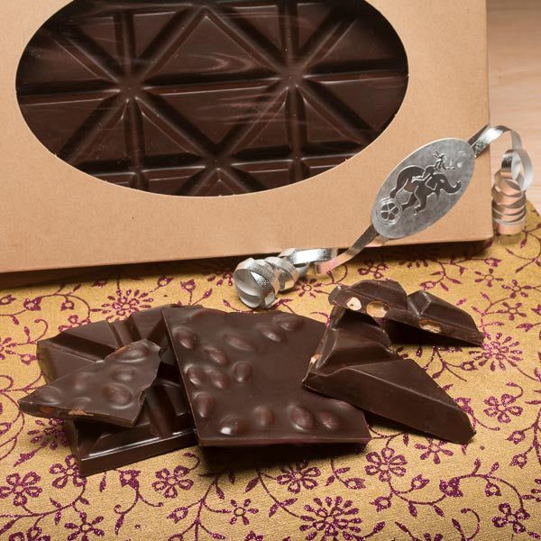 Vermont's Best Dark Chocolate Almond Bark by Nutty Steph's. Available at nuttystephs.com