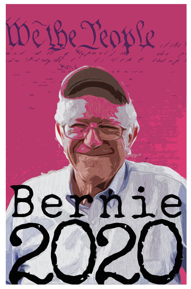Vermont's Best Bernie Poster We the People by Nutty Steph's. Available at nuttystephs.com