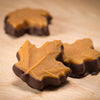 Vermont's Best Chocolate Dipped Maple Leaf in gift box by Nutty Steph's. Available at nuttystephs.com