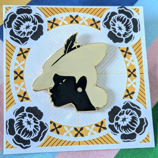 Spring Black Life Pin - Rabble-Rouser Chocolate & Craft