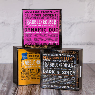 Holy Trinity Truffle Collection - Dynamic Duo, Dulcey Truffle, and Dark & Spicy Truffles