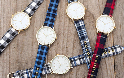 Plaid Design Fall Watches