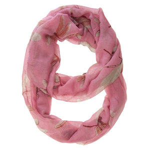 Dragonfly Pink Infinity Scarf II