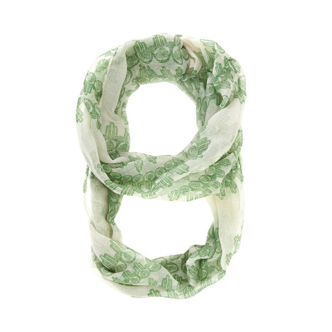Mixology Green Infinity Scarf