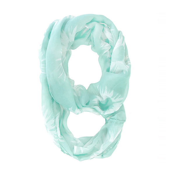 Splash Mint Infinity Scarf