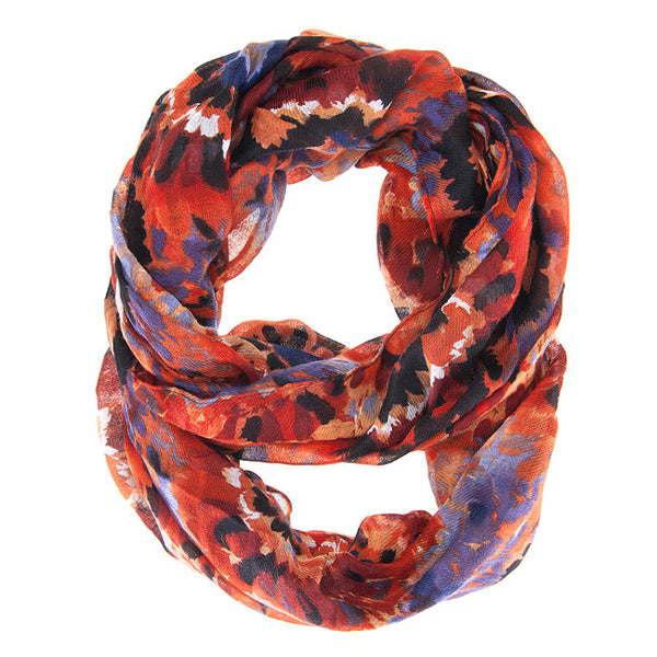 Scrunchy Orange Infinity Scarf