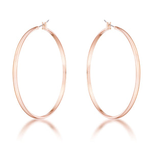 55mm Rose Gold Plated Classic Hoop Earrings