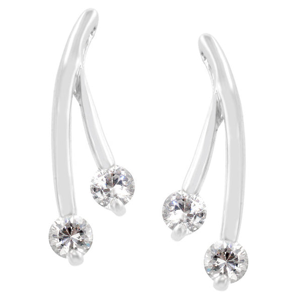 Branched Cubic Zirconia Earrings