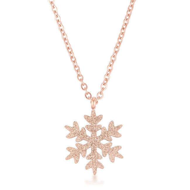 Jenna rose gold stainless steel rose gold snowflake necklace kate jenna rose gold stainless steel rose gold snowflake necklace aloadofball Images