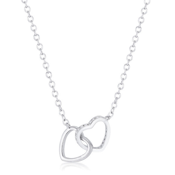 .22 Ct Interlocking Hearts Necklace with Cubic Zirconia