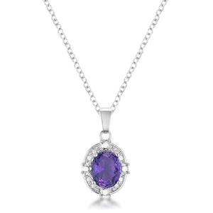10mm CZ Amethyst Fashion Pendant