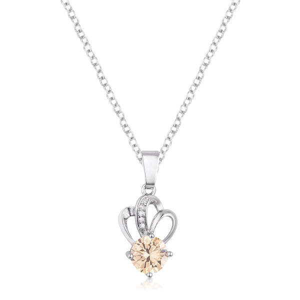 7mm Champaign Cubic Zirconia Fashion Pendant