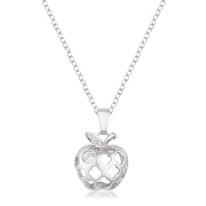 3.5mm Cubic Zirconia Apple Fashion Pendant
