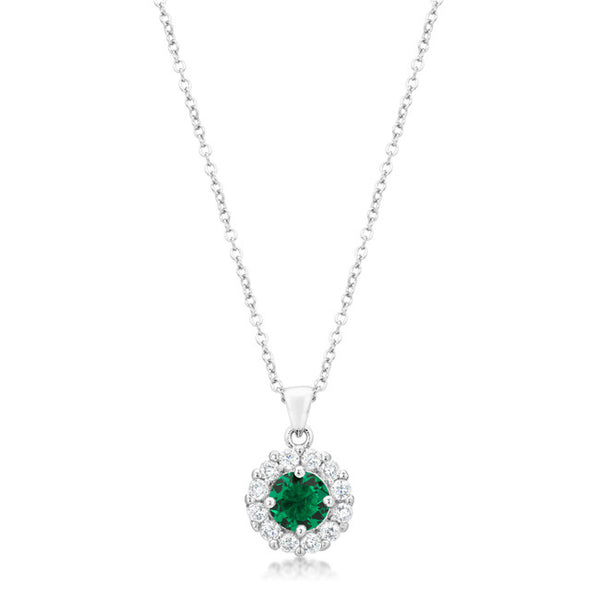 Bella Bridal Pendant in Green