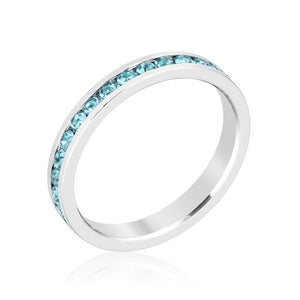 Stylish Stackables Aquamarine Crystal Ring