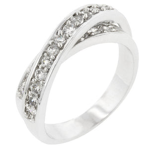 Double Cross Cubic Zirconia Ring