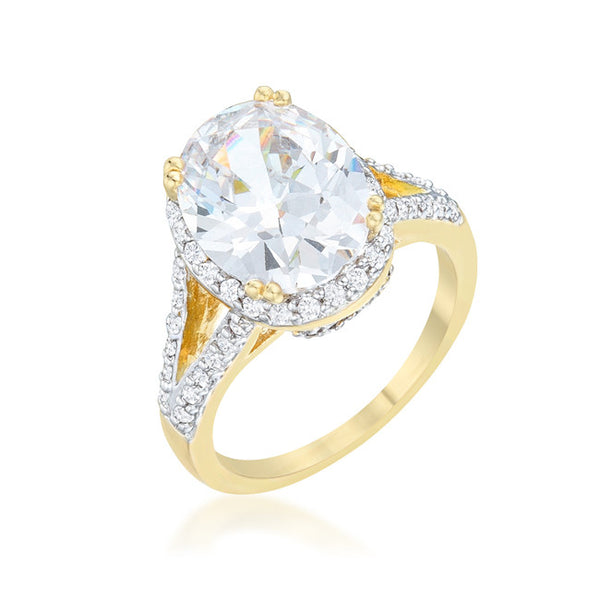 Jasmine 5.65ct CZ Two-Tone Engagement Ring
