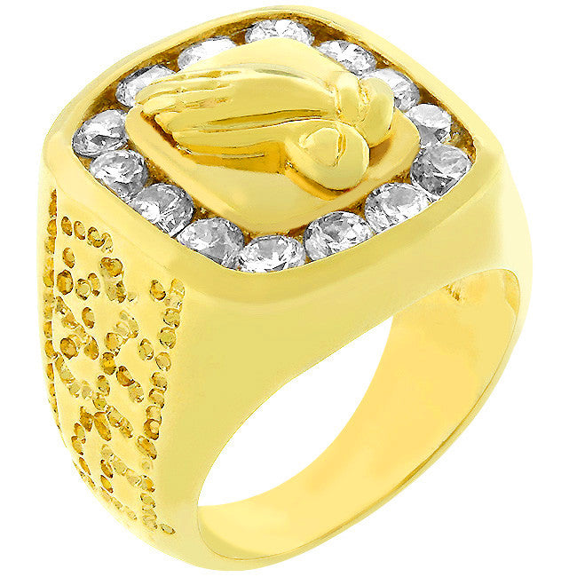 Praying Hands Fashion Ring