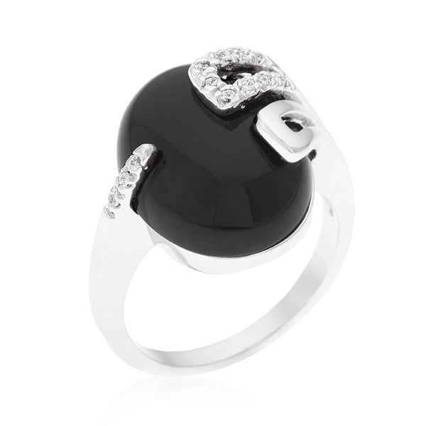 Black Onyx Egg Ring