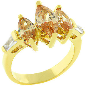 Triple Marquise Champagne Ring
