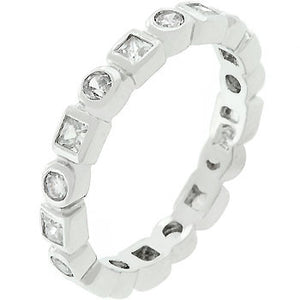 Silvertone Eternity Stackable Band