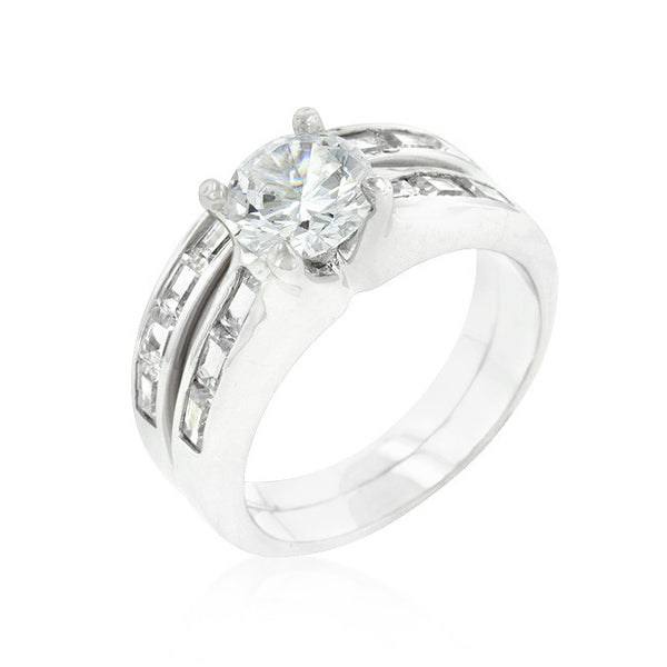 Silvertone Stackable Ring Set