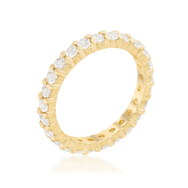 Goldtone Cubic Zirconia Eternity Band