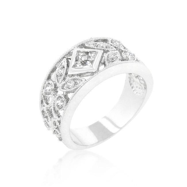 Spring Floral Cubic Zirconia Band