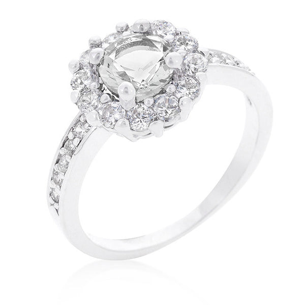Bella Birthstone Engagement Ring in Clear